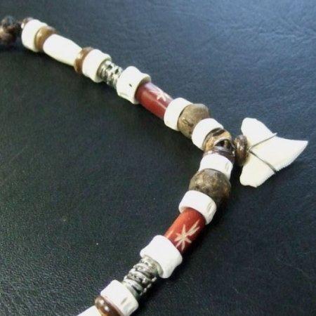 本物のサメの歯ネックレス - 20042etk
