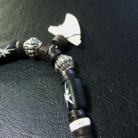 本物のサメの歯ネックレス - 20048etk