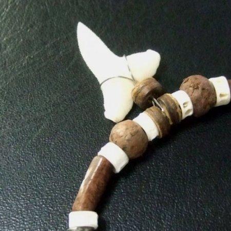 本物のサメの歯ネックレス - 20050etk