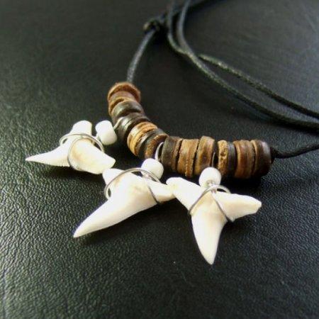本物のサメの歯ネックレス - 20062esw