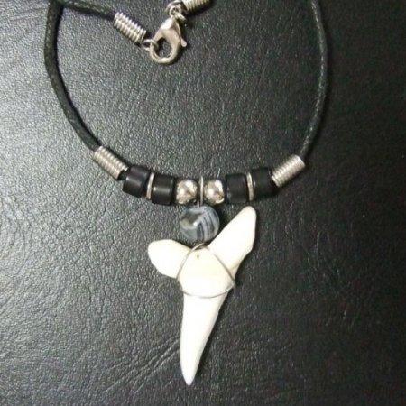 【大型 現品】3.9cm マコシャーク 本物のサメの歯ペンダントネックレス - 20070zhb
