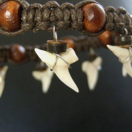 本物のサメの歯アンクレット - 27007esw