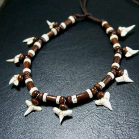 本物のサメの歯アンクレット - 27035ehk